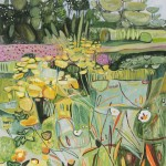 Elaine Kazimierczuk Cottage garden with Achillea and Mallow