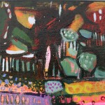 Elaine Kazmierczuk, A Little Bit of Fun in the Flowerbed, Original Oil Painting, Abstract Landscape Painting 8