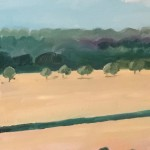 Eleanor Woolley | Across the fields from Aynho | Affordable Art Online | Landscape | Impressionistic | Section 4