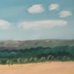 Eleanor Woolley | Across the fields from Aynho | Affordable Art Online | Landscape | Impressionistic | Section1