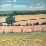 Eleanor Woolley | Across the firelds from Aynho | Affordable Art Online | Landscape | Impressionistic