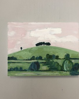 Eleanor Woolley, The Copse 2, Original Oil Landscape Painting 11