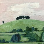Eleanor Woolley, The Copse 2, Original Oil Landscape Painting