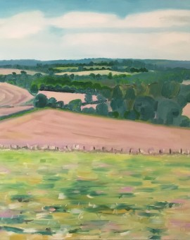 Eleanor Woolley | The view from Aynho | Affordable Art Online | Landscape | Impressionistic