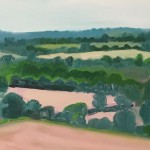 Eleanor Woolley | The view from Aynho | Affordable Art Online | Landscape | Impressionistic | Section 2