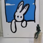 Harry Bunce, Blue Rabbit, Limited Edition Silkscreen Print 7