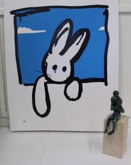 Harry Bunce, Blue Rabbit, Limited Edition Silkscreen Print 7