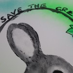Harry Bunce, God Save the Green, Silkscreen Print, Conservation Art, Animal Art