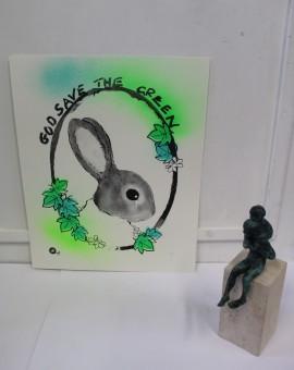 Harry Bunce, God Save the Green, Silkscreen Print, Conservation Art, Animal Art 6