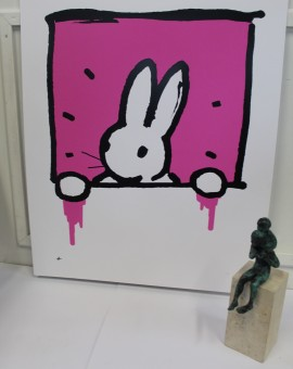 Harry Bunce, Pink Rabbit, Limited Edition Silkscreen Print 6