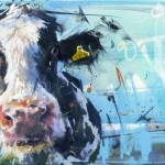 James Bartholomew, Nosey Cow, Limited Edition Giclee Print