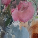 Jemma Powell, Peonies & Stripey Joy, Original Oil Painting 6