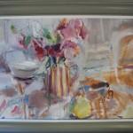 Jemma Powell, Peonies in Stripey Joy, Original Flower Painting 3