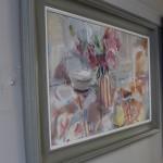 Jemma Powell, Peonies in Stripey Joy, Original Flower Painting 4