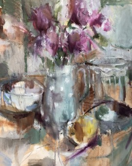 Jemma Powell, Pink Peonies, Original Still Life Painting 11