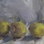 Jemma Powell, Three Lemons, Original Oil Painting for Sale 2