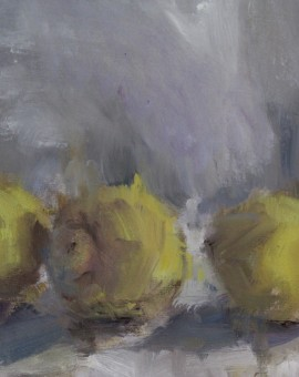 Jemma Powell, Three Lemons, Original Oil Painting for Sale 2