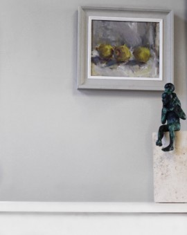 Jemma Powell, Three Lemons, Original Oil Painting for Sale