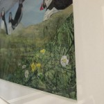 Judith Yarrow, Faroes – Puffin, Mixed Media Painting, Gouache, Watercolour, Collage on Paper, Animal Art, Bird Art 9