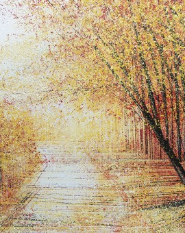 Marc Todd, Autumn Trees At Sunset, Contemporary Impressionist Landscape Painting, Landscape Paintings For Sale Online