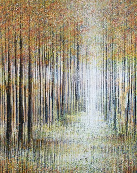 Marc Todd. White Light Through Autumn Trees, Contemporary Impressionist Landscape Painting, Landscape Paintings For Sale Online
