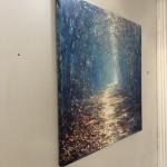 Mariusz Kaldowski, Enchanted Forest in Blue, Original Acrylic Landscape Painting 10