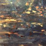 Mariusz Kaldowski, Enchanted Forest in Blue, Original Acrylic Landscape Painting 8