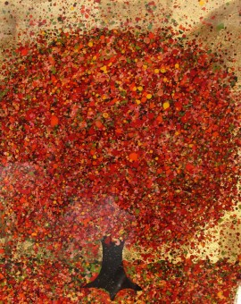Nicky Chubb, A Tumble of Scarlet Leaves, Original Painting, Tree Art, Nature Art
