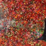 Nicky Chubb, A Tumble of Scarlet Leaves, Original Painting, Tree Art, Nature Art .JPG 5