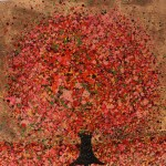 Nicky Chubb, Autumn Amber, Original Painting, Tree Art, Nature Art