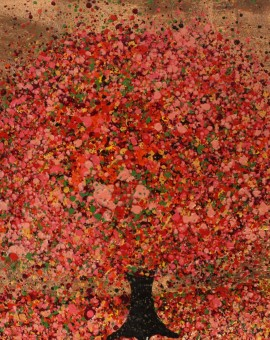 Nicky Chubb, Autumn Amber, Original Painting, Tree Art, Nature Art