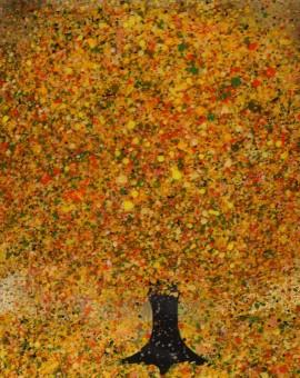 Nicky Chubb, Happiness, Original Painting, Tree Art, Nature Art