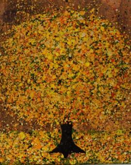 Nicky Chubb, Happy Dance, Original Painting, Tree Art, Nature Art