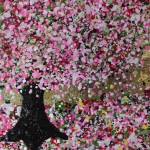 Nicky Chubb, Happy Pink Blossom, Original Painting, Tree Art, Nature Art 2