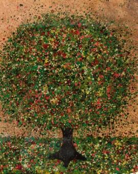 Nicky Chubb, Summer Sunset, Original Painting, Tree Art, Nature Art