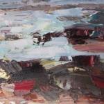 Paul Treasure, Golden Tide, Original Seascape Painting, Contemporary Art 2