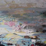 Paul Treasure, Golden Tide, Original Seascape Painting, Contemporary Art 3