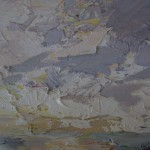Paul Treasure, Golden Tide, Original Seascape Painting, Contemporary Art 4