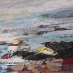 Paul Treasure, Golden Tide, Original Seascape Painting, Contemporary Art 8