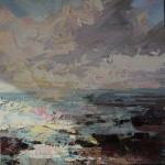 Paul Treasure, Golden Tide, Original Seascape Painting, Contemporary Art