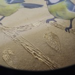 Sally Ann Johns, Blue Tits in Black Frame, Original Artwork 4