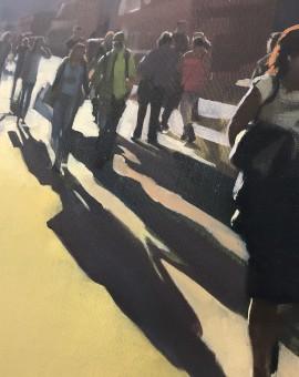 Sam Hewitt, 48:52, Original Oil Painting, Cityscape Art, Figurative Painting 5