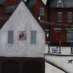 Sean Durkin, Market Place in Deddington, Original Landscape Painting 3