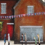 Sean Durkin, Market Place in Deddington, Original Landscape Painting 5