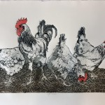 Sue Brown, Hens, Limited Edition Etching, Animal Art, Bird Art, Affordable Art 11