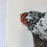 Sue Brown, Hens, Limited Edition Etching, Animal Art, Bird Art, Affordable Art 9