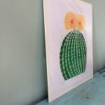 Joanna Padfield Echino cactus Linocut Print Wychwood Art 2