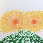 Joanna Padfield Echino cactus Linocut Print Wychwood Art 5