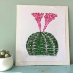 Joanna Padfield Gymnocalycium Linocut Print 2