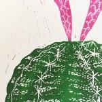 Joanna Padfield Gymnocalycium Linocut Print Wychwood Art 5